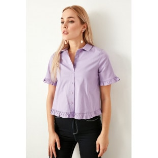 Trendyol Lila Button Detailed Shirt