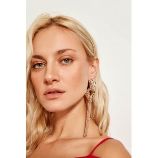 Trendyol Gold Chain Earrings