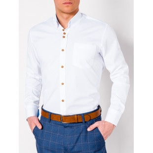 Ombre Clothing Men's elegant shirt with long sleeves K302
