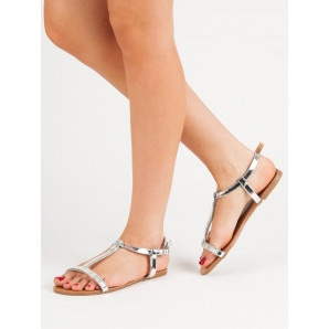 ABLOOM LACQUERED FLAT SANDALS