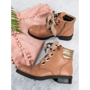 BESTELLE POWDERED FLAT ANKLE BOOTS HIGH HEELS