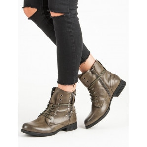 KAYLA GREEN ROCK ANKLE BOOTS