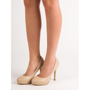 SMALL SWAN BEIGE HEELS ON