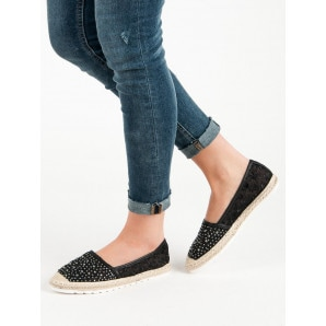 IDEAL SHOES ESPADRILLES WITH CRYSTALS