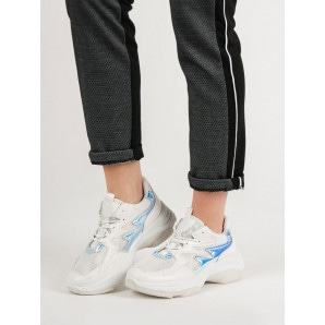 KAYLA WHITE SNEAKERS WITH A HOLO