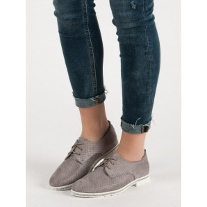 SEASTAR THE GRAY SHOES WITH CRYSTALS
