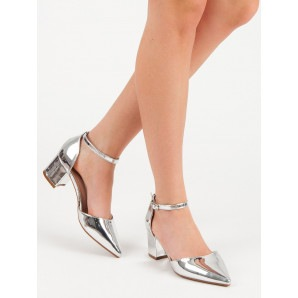 WEIDE SILVER PATENT PUMPS