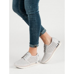 ACLYS KNITTED GREY SHOES