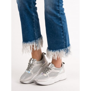 IDEAL SHOES SILVER SPORTS SHOES