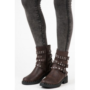 CINK ME BROWN WORKERY WITH STUDS