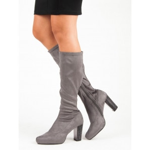 ACLYS GRAY BOOTS HIGH HEELS