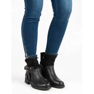 SDS BLACK ANKLE BOOTS WORKERY