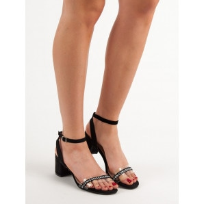 IDEAL SHOES STYLISH SUEDE SANDALS