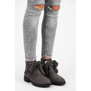 BESTELLE RIBBON LACE-UP BOOTS