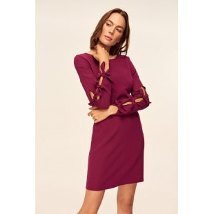 Trendyol Plum Binding Detailed Dress