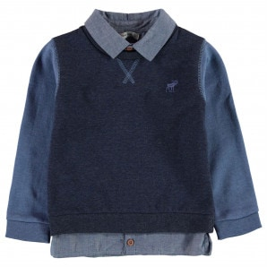 Crafted Mock Shirt Sweater Baby Boys