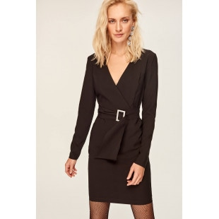 Trendyol Black Belt Detailed Dress