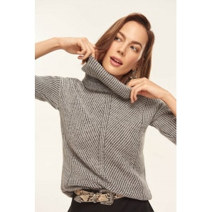 Trendyol Anthracite Knit Detail Sweater Sweaters