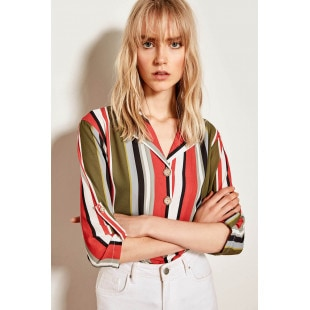 Trendyol Multi Colored Striped Shirt