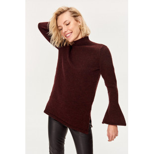 Trendyol Plum K Sarah Are Flanged V-neck Sweater