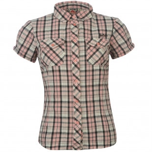 Lee Cooper Short Sleeved Check Shirt dámské