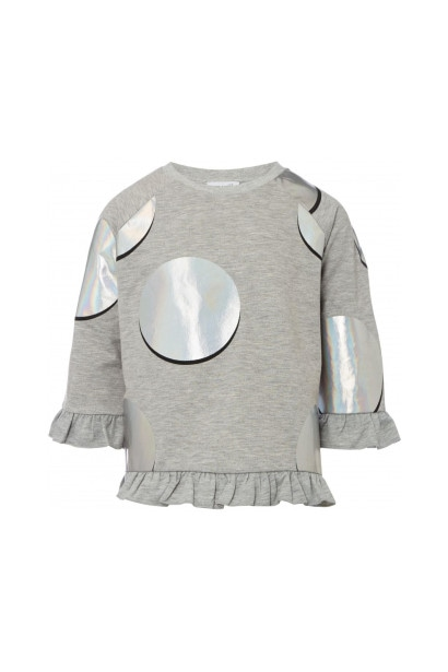 Rose and Wilde Girls Riley Holographic Circle Sweater
