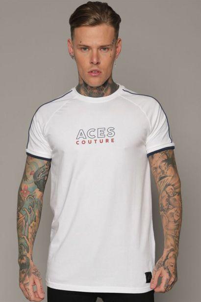 Aces Couture Panel T Shirt Mens