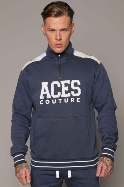 Aces Couture Capital Half Zip Top Mens