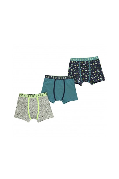 Crafted Essentials 3 Pack Design Boxer Shorts Boys