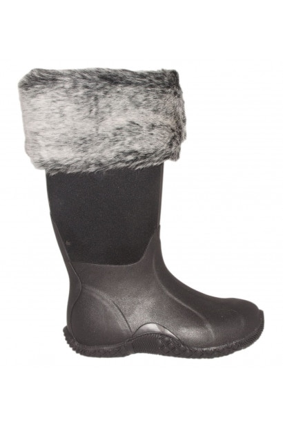Requisite Espresso Faux Fur Boot Toppers One Size