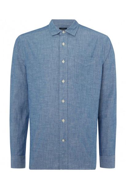 Howick Anchor Chambray Long Sleeve Shirt