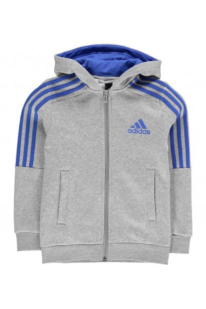 0f5e3a51d617 Adidas 3S Logo Full Zip Hoody Junior Boys