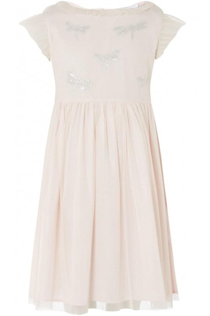 Rose and Wilde Demi Dragonfly Mesh Dress With Embrodiery