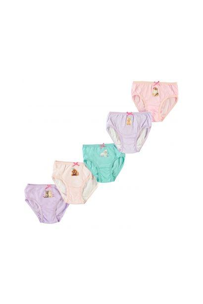 Crafted Essentials 5 Pack Briefs Child Girls