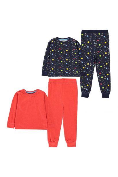 Crafted Essentials 2 Pack Design Pyjamas Childrens