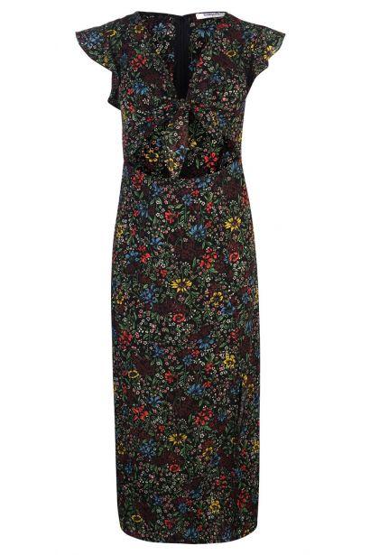 Glamorous Floral Tie Front Midi Dress