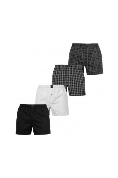 Kangol Woven Boxer Shorts 4 Pack Mens