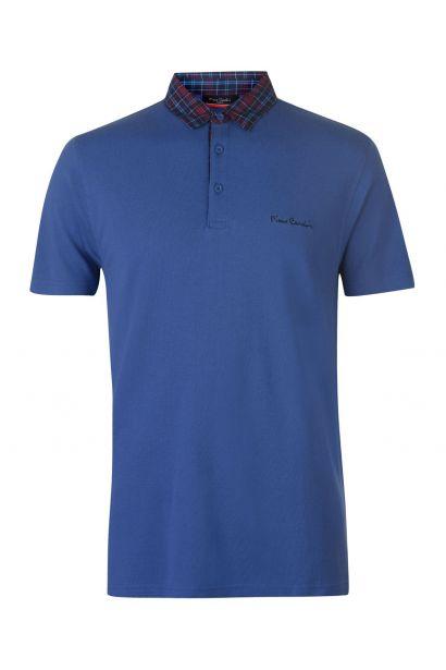 Pierre Cardin Short Sleeve Check Collar Polo pánske