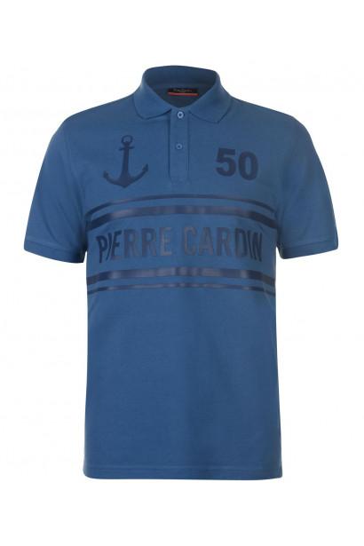 Pierre Cardin Raised Print Logo Polo Shirt Mens