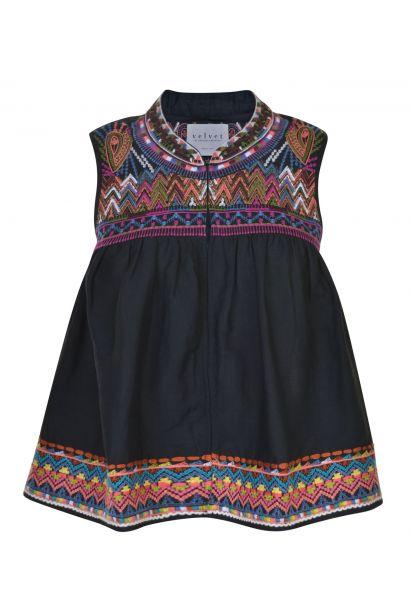 Velvet Embroidery Vest