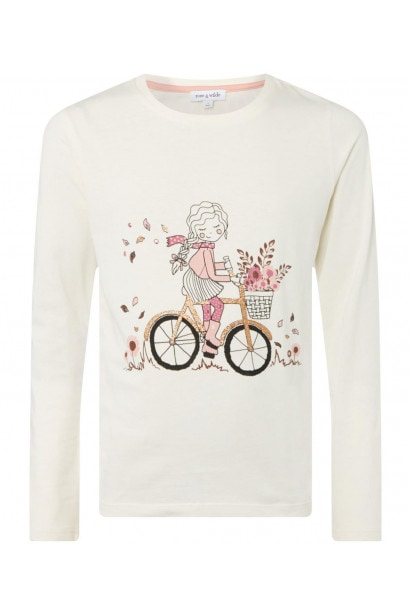 Rose and Wilde Brylee Girl On Bicycle Tee