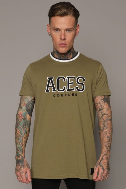 Aces Couture College T Shirt Mens
