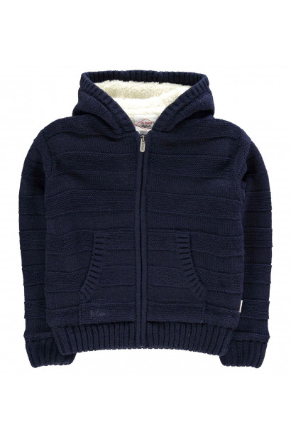 Lee Cooper Stripe Lined Knit Jacket detské Boys