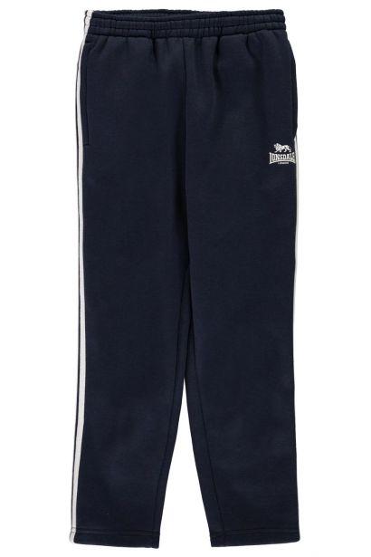 Lonsdale 2 Stripe Open Hem Jogging Pants detské Boys