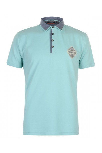 Pierre Cardin Chambray Contrast Polo Mens
