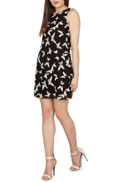 Izabel Bird Print Lace Dress