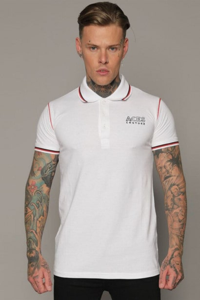 Aces Couture Statement Polo Shirt Mens
