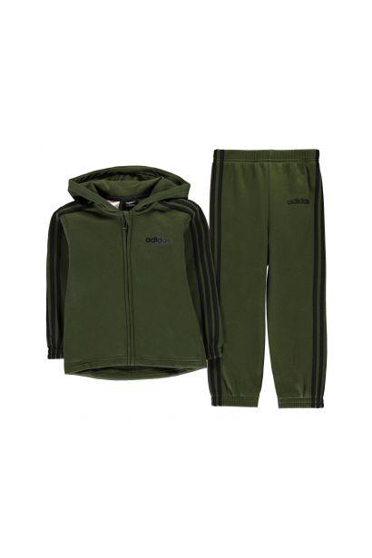 93a64e4454 Adidas 3 Stripe Hoodie Tracksuit Infant Boys