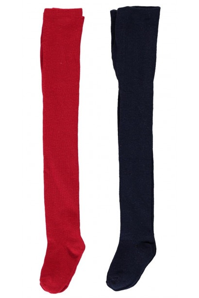 Crafted Essentials 2 Pack Ruffled Tights Child Girls