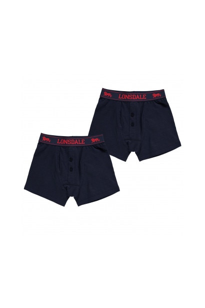 4c6218d82 Lonsdale 2 Pack Boxers Junior